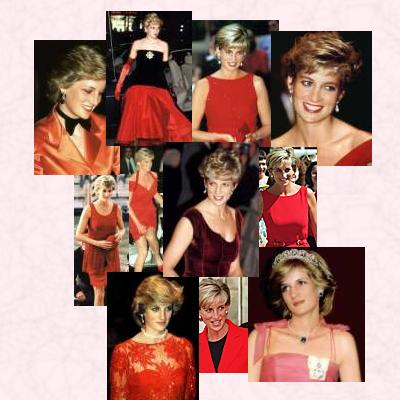 Lady in Red - One of Diana's favourite colours.